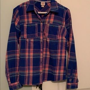 Women's small flannel button up shirt